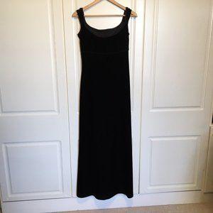 Jessica McClintock Bridal black velvet dress sz 6